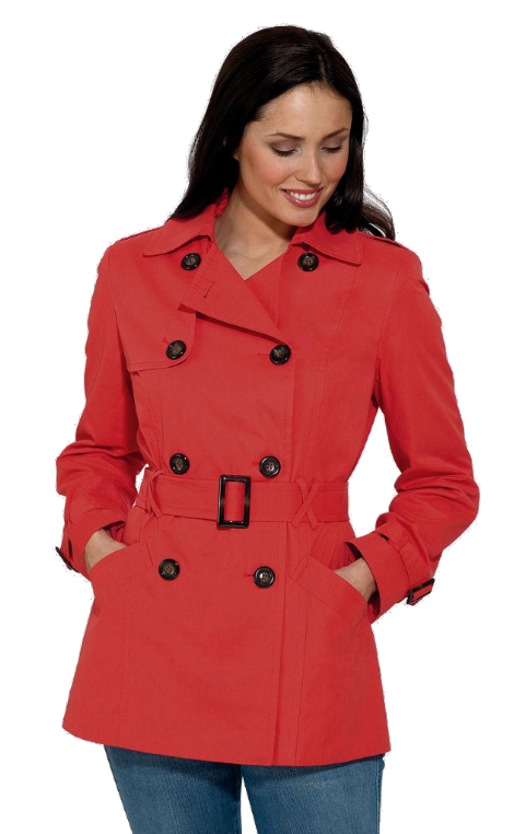 Womens ❤️Plus❤️ Red Trench Jacket db402